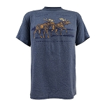 Mens - T Shirt -  Newfoundland and Labrador - Moose Hole - Denim