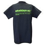 Mens - T Shirt  - Whaddaya At? - Definition -  Black