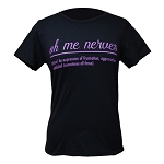 Ladies - T Shirt - Oh Me Nerves - Black