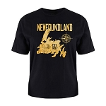 Mens - T Shirt - Newfoundland with Compass - Est 1497 - Black