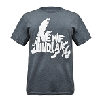 Mens - T Shirt -  Newfoundland Map with Newfoundland - Grey