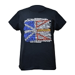 Ladies - T Shirt Newfoundland Flag w Place Names