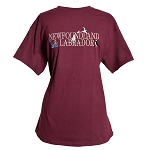 T Shirt - Newfoundland and Labrador -  Whale, Seagull, Puffin, and Sailboat  -  Burgundy