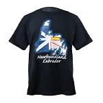 Men's T Shirt - Newfoundland Map - Newfoundland and Labrador - Black