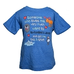 Kids T Shirt - Someone Who loves me very much went to Newfoundland and Labrador - Blue