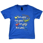 Kids T shirt - One Moose, Two Moose, Red Moose, Blue Moose - Newfoundland & Labrador - Blue