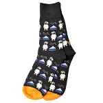 Women's - Black Puffin Socks - Size 6-10