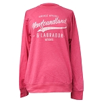 Ladies -  Sweatshirt Vintage Apparel Newfoundland and Labrador Authentic Sparkle - Pink Heather