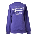 Sweatshirt - Ladies -Vintage Apparel Newfoundland & Labrador Authentic -  Sparkle - Purple Heather