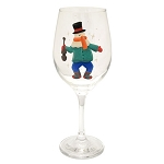 Hand Painted - Wine Glass with Mummer and Guitar