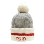 Toque - Adult - Yes B'y - Grey/ Beige/ Red