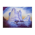 Sherpa Blanket - Magestic Giants - by Trish Walsh - 50