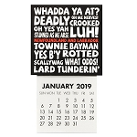 Mini - 2019 Magnetic Calendar - Newfoundland Sayings - 4.5