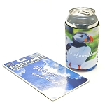 Postcard and Beverage Insulator - Puffin