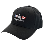 Newfoundland & Canadian Flag with Island of Newfoundland - Cap - Black