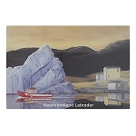 Cutting Board - Glass - Newfoundland and Labrador - Iceberg - 12 x 16