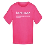 Youth - T Shirt -  Hard Case - Hot Pink