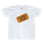 Kid's  TShirt - Hard Ticket - White