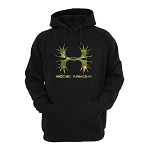 Hoodie - Adult - Moose Armour Camo - Black