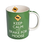 Keep Calm and Brake For Moose - Newfoundland - Mug