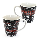 Mug - Cafe Style - Newfoundland Sayings - Black