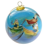 Ornament - Hand Painted Bulb - Quidi Vidi Mummers - in Velvet Box - 3 1/2