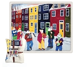 Fleece Throw - Sherpa - Mummers Parade - 50 x 60
