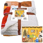 Fleece Throw - Sherpa - Mummers Kitchen Party by Tish Walsh - 50 x 60