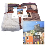 Fleece Throw - Sherpa - Standing Tall - By Dale Ryan - Rowhouses & Cabot Tower - 50 x 60