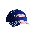 Newfoundland -  Flag on Brim - Cap - Royal Blue