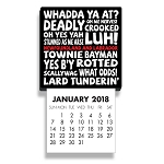 Mini Magnet Calendar 2018  - Newfoundland Sayings - 4.5