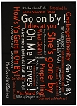 Tea Towel - Newfoundland Sayings - Black
