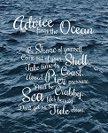 Canvas Print - Advice from the Ocean - 11x 14