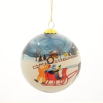 Hand Painted - Glass Bulb - Mummers Sleigh Ride - With Velvet Gift Box -3