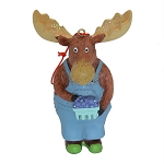 Ornament - Moose w Blueberries - 4