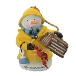 Ornament - Snowman Fisherman w Lobster Pot - 3