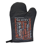 Oven Mitt -  Newfoundland Sayings: She's Gone by - Black
