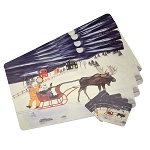 Vinyl Place Mats with Coasters - Mummer's Sleigh Ride - 8pc set