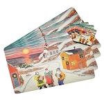 Vinyl Place Mats with Coasters - Mummer's Come A Knockin' - 8pc set