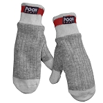 Pook - Wool Sock - Kids  Mittens - Red Plaid Lining