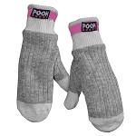 Pook - Wool Sock - Kids  Mittens - Pink Plaid Lining