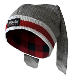 Pook - Wool Sock - Adult Toque - Red Plaid Lining
