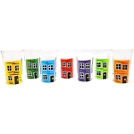 Shot Glass - Hand Painted Row House - Sold Separately