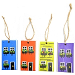 Ornament - Hand Painted flat row houses - 3.5