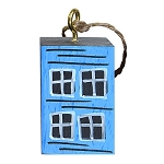 Ornament - Hand-Painted - Block Rowhouse - Blue