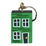 Ornament - Hand-Painted - Block Rowhouse - Green