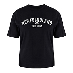 Mens - T Shirt  -   Newfoundland - The Rock -  Newfoundland Map - Black