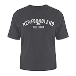 Mens - T Shirt -  Newfoundland - The Rock - Newfoundland Map - Charcoal