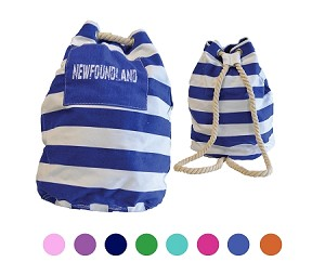 Newfoundland  Striped Duffle Bag - Rope Handle - 3 in 1