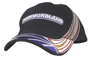 Newfoundland Flag Wrap with Text - Cap - Navy